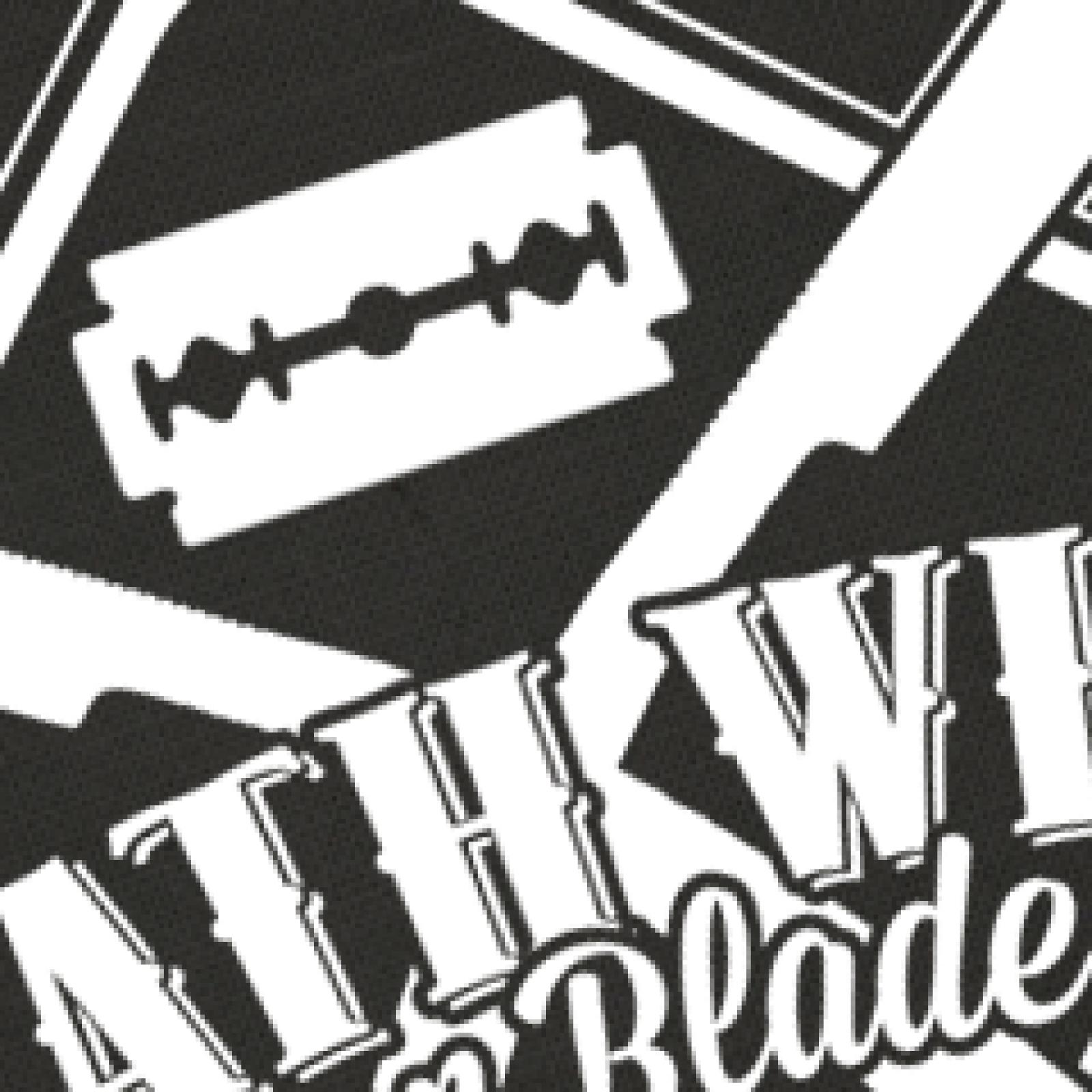 death wish razor blades shirt print